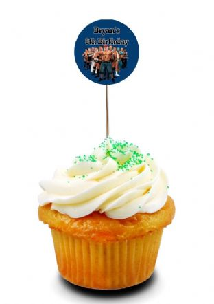 Wrestlemania WWE Cupcake Picks/Toppers